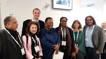 CFDS Director Makram El-Shagi with other representatives of BRICS NU universities and South African Minister of Education Naledi Pandor